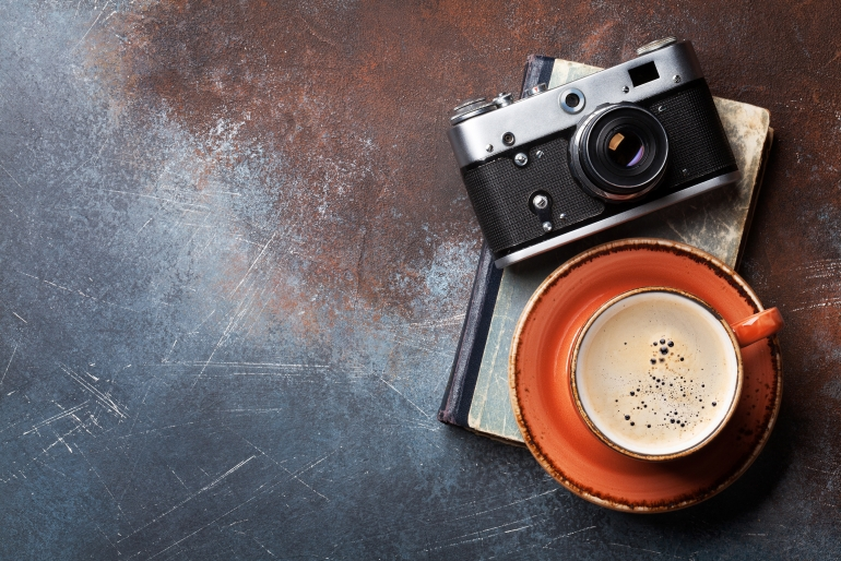 coffee-cup-and-retro-camera